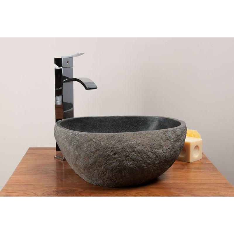 Vasque rocher de rivière ronde