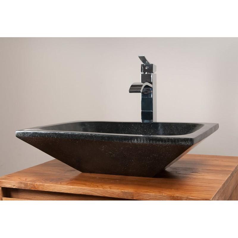 Vasque rectangulaire b ton cir meubles en teck pour for Vasque en beton cire