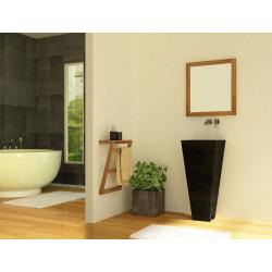 Meuble de salle de bain teck contemporain cr par kayumanis meuble de sall - Vasque sur pied design ...