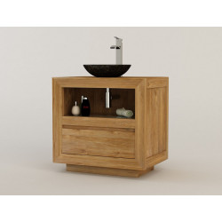 Meuble de salle de bain teck contemporain cr par for Meubles createurs design