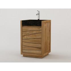 Meuble de salle de bain sentani vasque encastrée