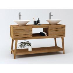Meuble  teck de salle de bain Palaméa de KAYUMANIS vendu sur www.design-salledebain.fr