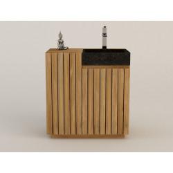 meuble teck de salle de bains Miangas design Kayumanis