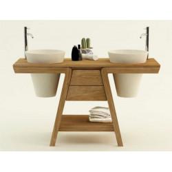 Meuble teck salle de bain BINTUNI - 140cm