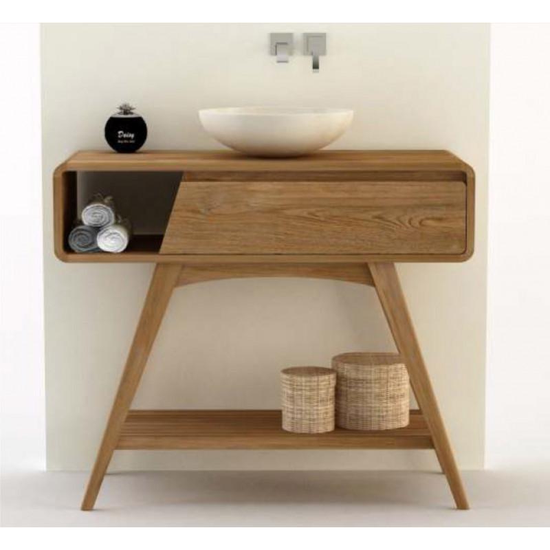 meuble teck salle de bain maffin 105 cm. Black Bedroom Furniture Sets. Home Design Ideas