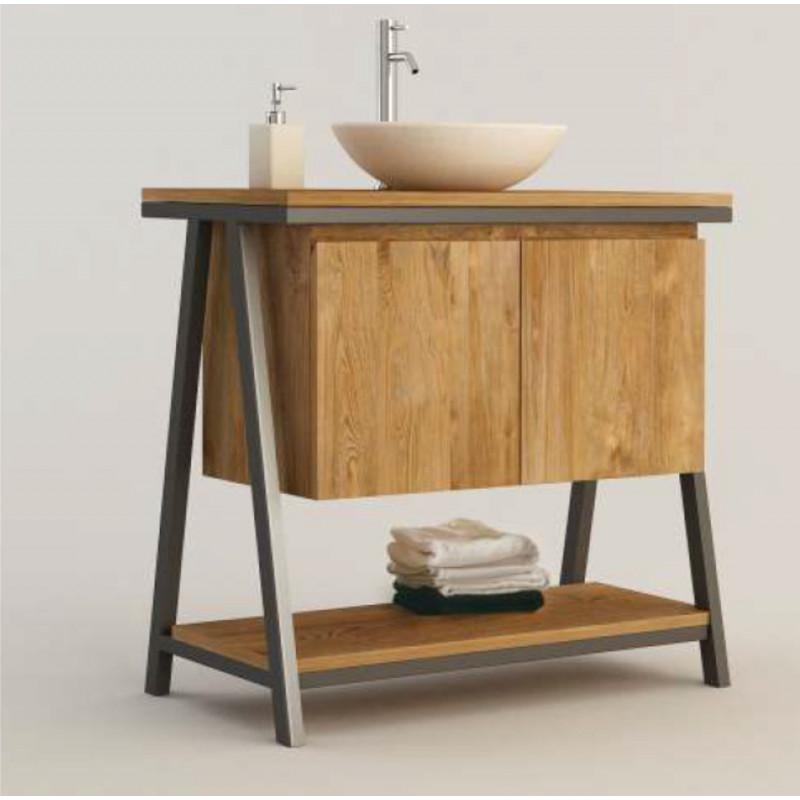 Meuble teck salle de bain SERA - 80cm
