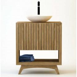 Meuble teck salle de bain RITAN simple vasque - 80cm