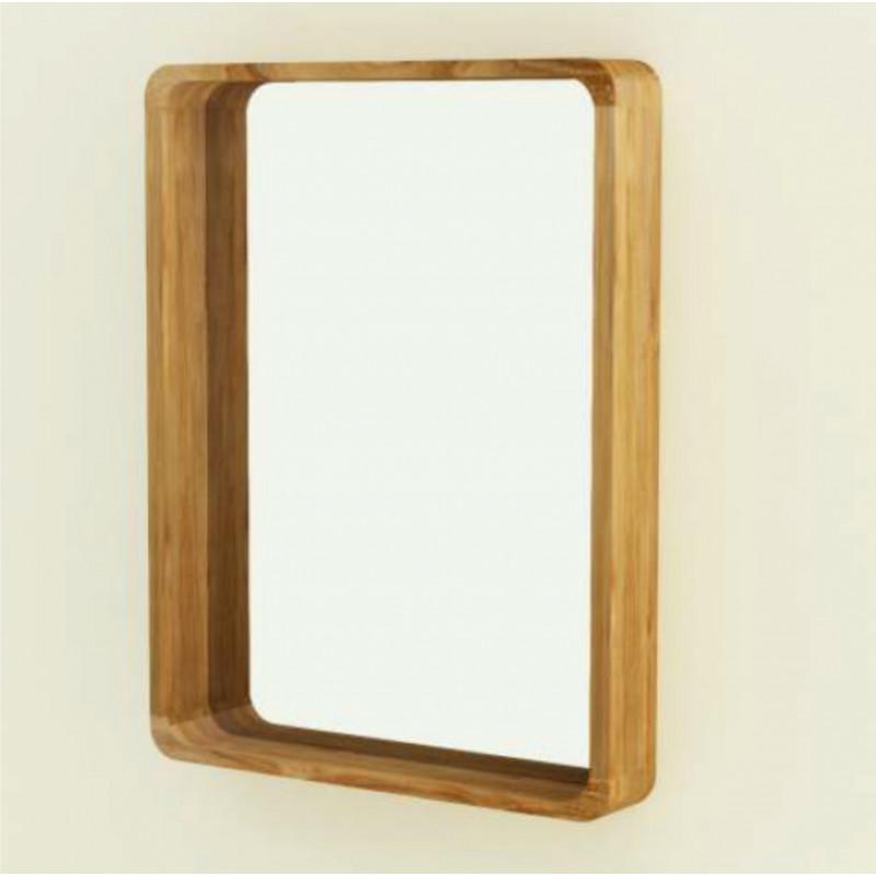 Miroir salle de bain teck BINTUNI