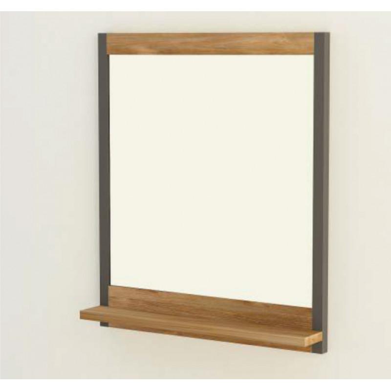 Miroir salle de bain 70 cm sera encadrement teck massif - Miroir amovible salle de bain ...