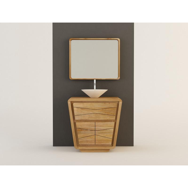Meuble teck salle de bain 2 portes - 80cm