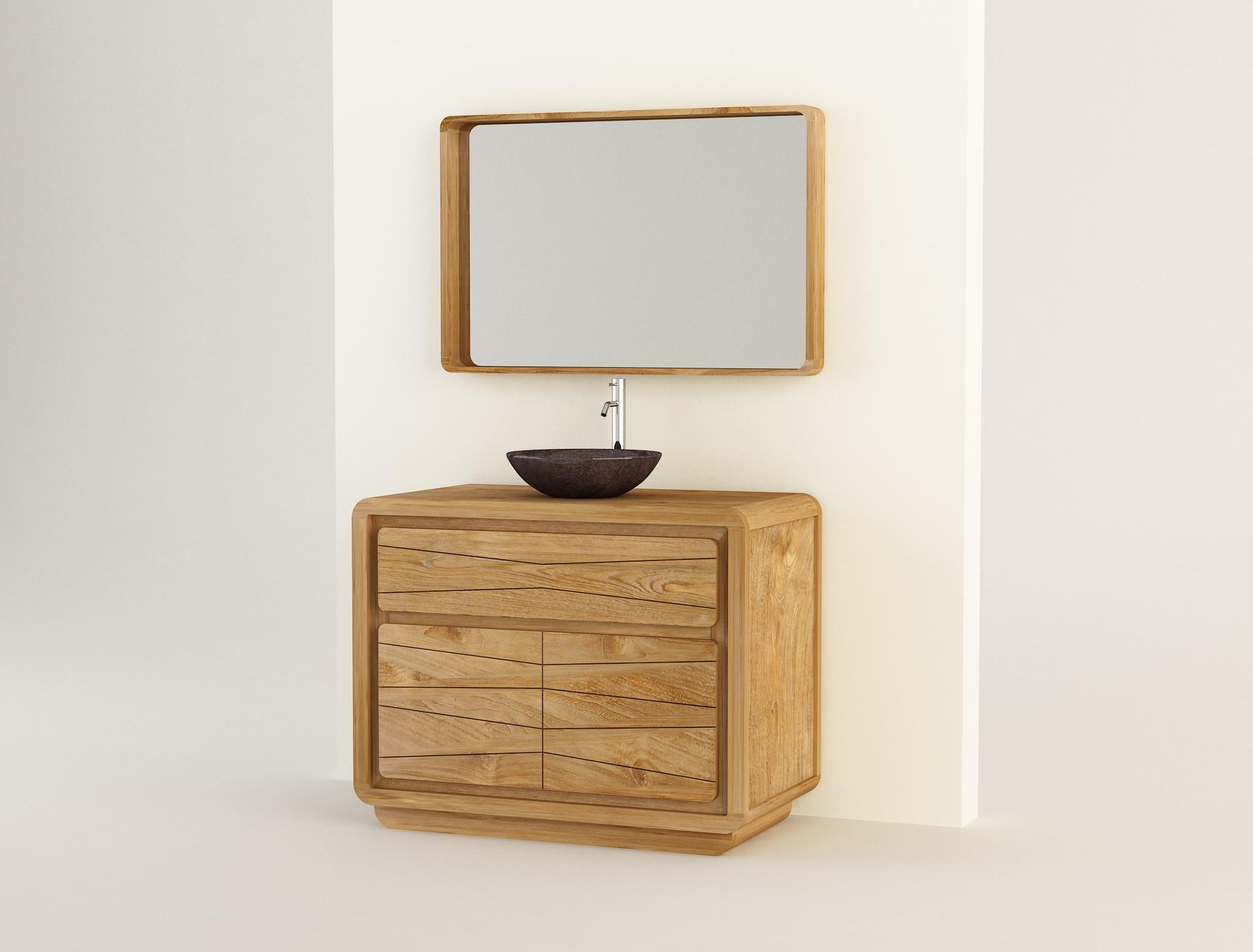 R sultat sup rieur 15 beau meuble salle de bain teck 100 for Meuble sdb 100 cm