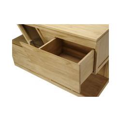 Détail tiroir de rangement en haut à droite du meuble de salle de bain en teck DIAGONAL de Kayumanis