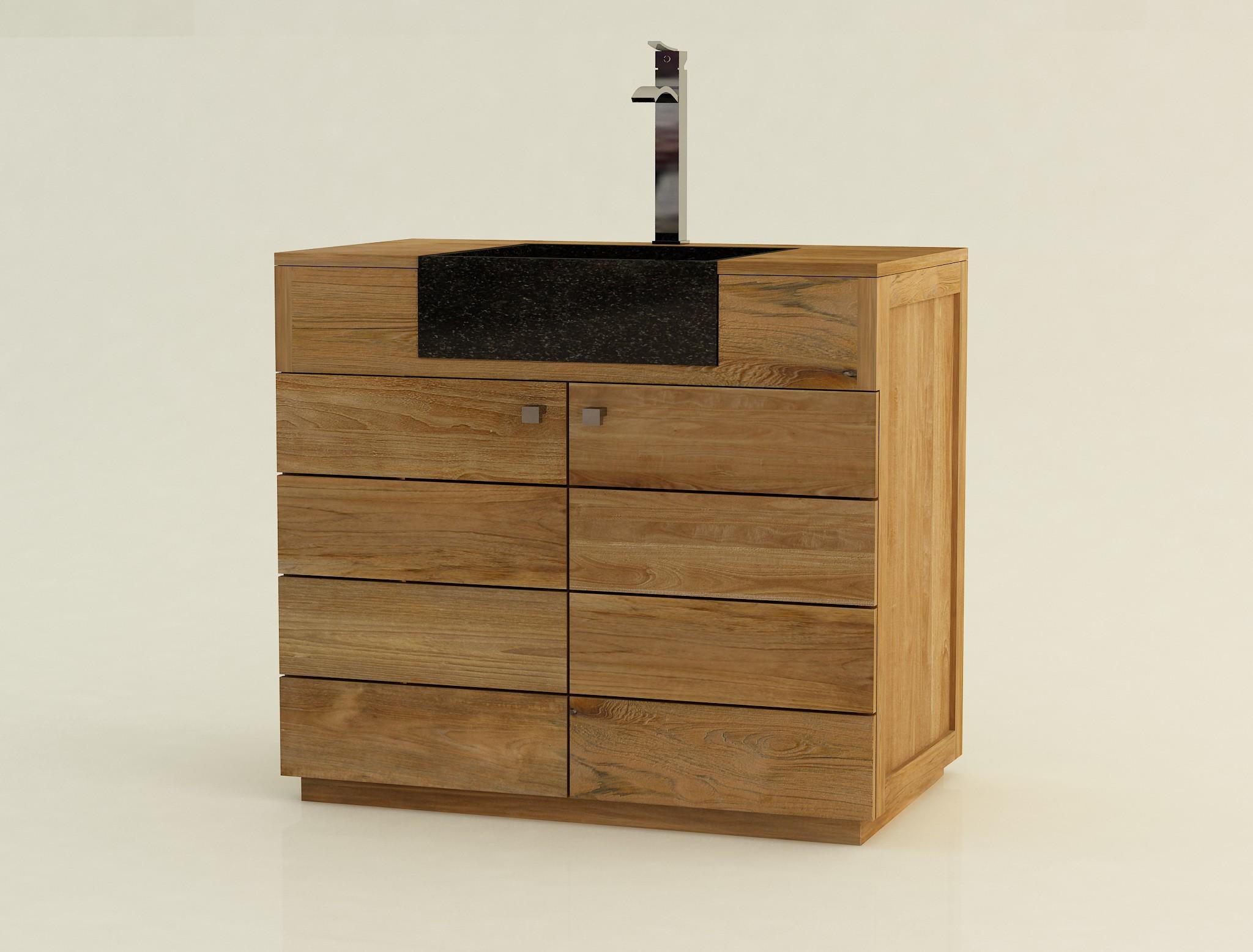 Meuble salle de bain orange salle de bain orange et for Meuble salle de bain simple vasque bois