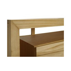 Meuble teck de salle de bain 2 tiroirs et 2 portes Sentani - Design Kayumanis créateur de mobilier de bain teck FSC