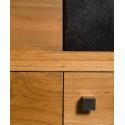 Détail porte meuble teck salle de bain Sumba - Design Kayumanis