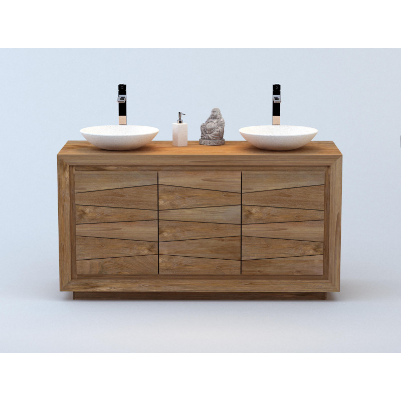 Meuble teck salle de bains 140 Ambon