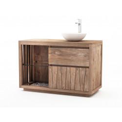 Meuble teck salle de bain Kumaï - 120cm