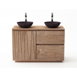 Meuble teck salle de bain MEDAN - 120 cm