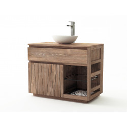 Meuble teck salle de bain Manado - 100cm