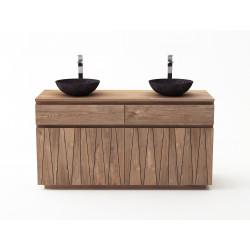 Meuble teck salle de bain - MALANG-140cm