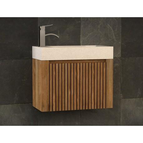 lave mains en teck et vasque encastr e en b ton cir raibu kayumanis. Black Bedroom Furniture Sets. Home Design Ideas