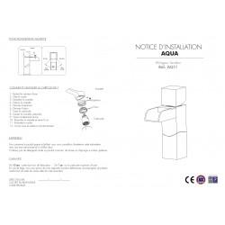 Robinet bas cascade - notice 1