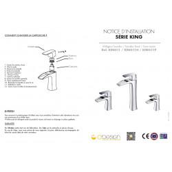 Robinet bas King - notice 1