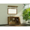 Meuble teck de salle de bain Liane avec rangement et réceptacle de Kayumanis