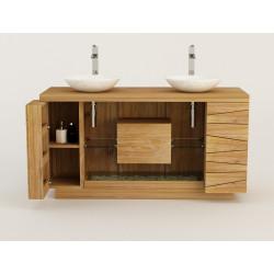 meuble teck salle de bain Kupu kupu Kayumanis