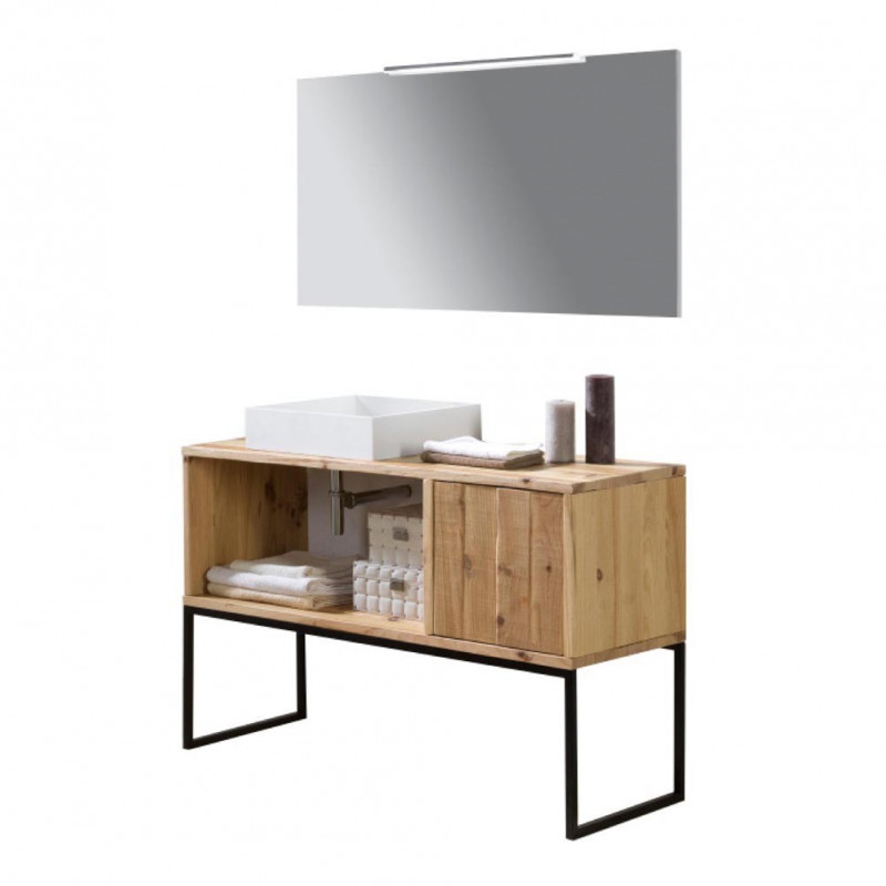 Nature meuble de salle de bain teck contemporain cr for Entretien meuble teck