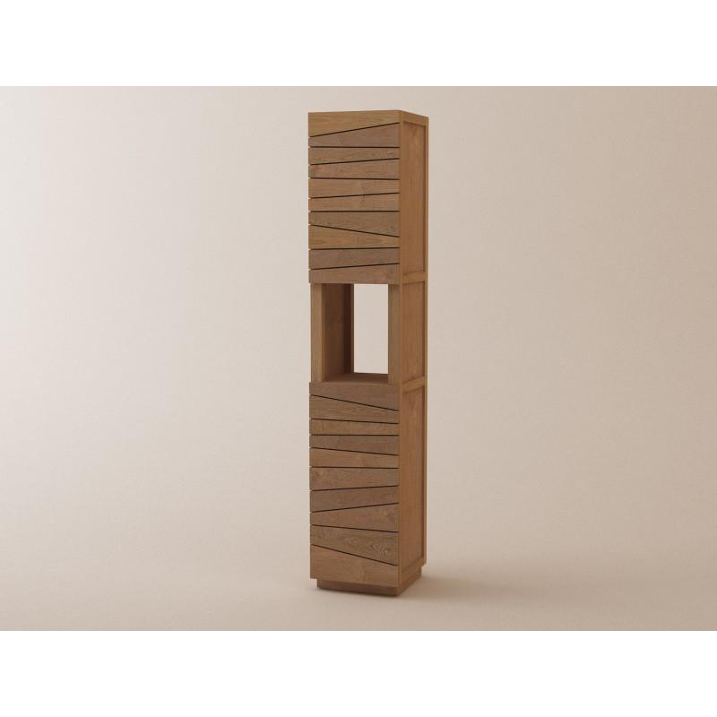 Meuble colonne teck sentani rangement pour salle de bain for Entretien meuble teck