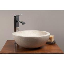 Vasque ronde en marbre pour salle de bains