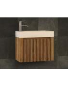 Lave mains en bois teck modèle Raibu de Kayumanis