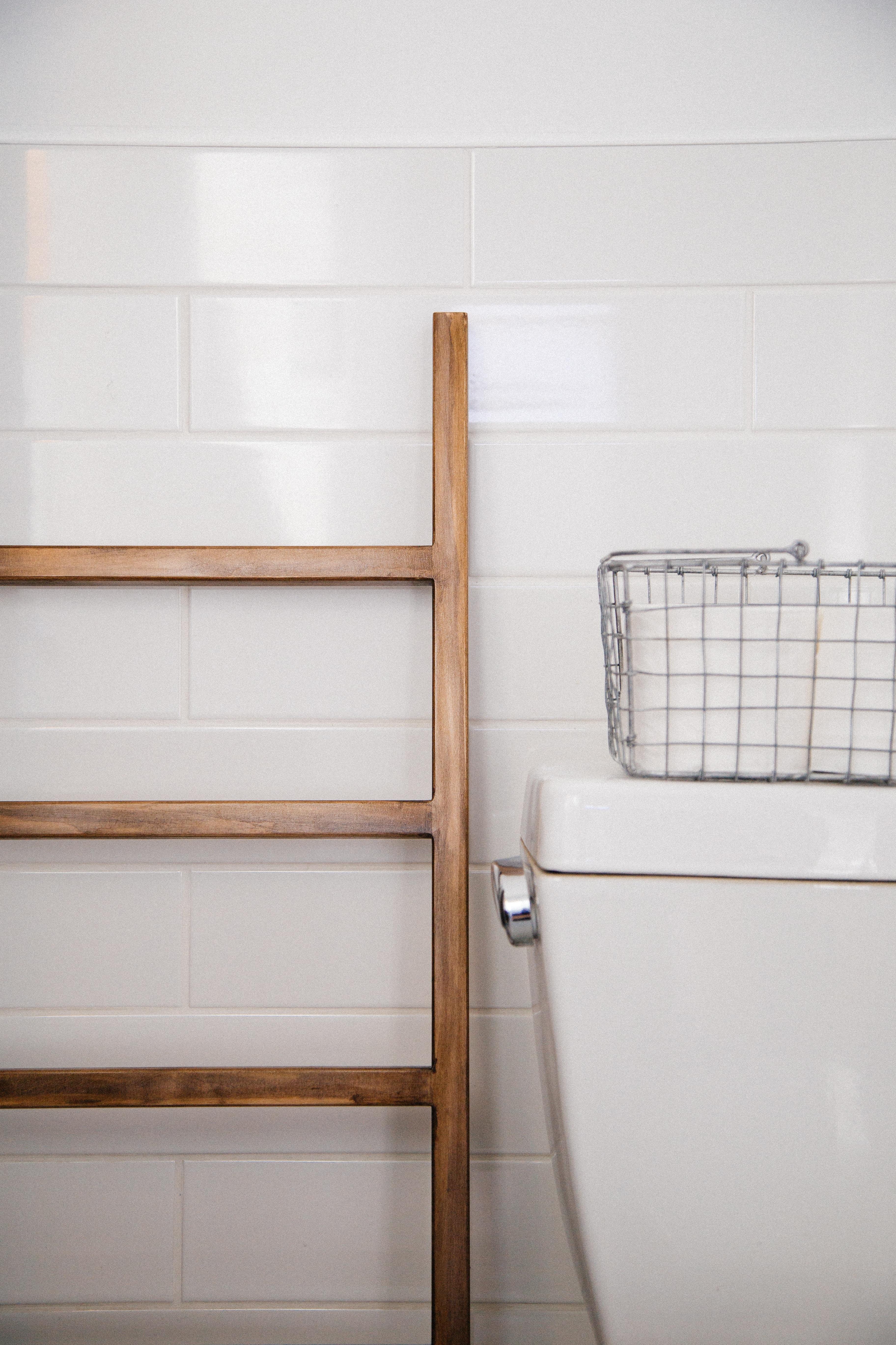 échelle de salle de bain porte serviettes